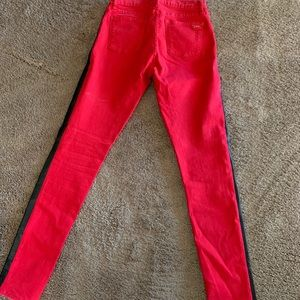 Juicy Couture Jeans - Red with black strip juicy jeans